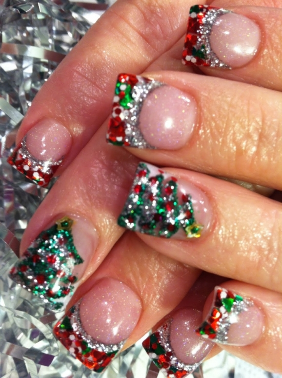 Christmas Tree Toe Nail Designs : Creative christmas nail art designs design ideaz