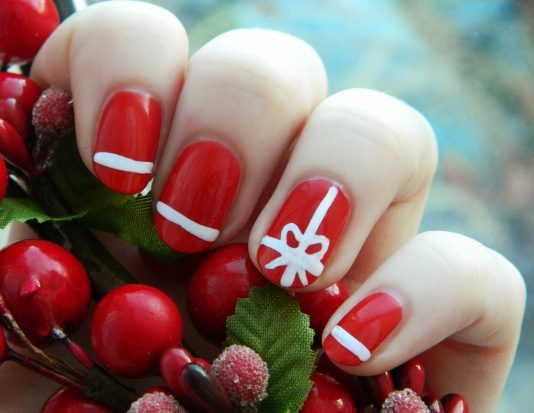 40 creative christmas nail art designs - Christmas Nail Decorations