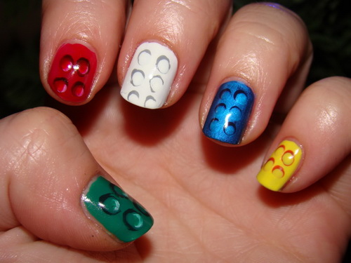 35 cute nail designs for beginners nail design ideaz nail art prinsesfo Images