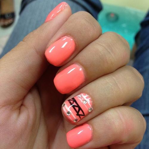 Cute Peach Nail Designs Cute Peach Nail Art Design 13