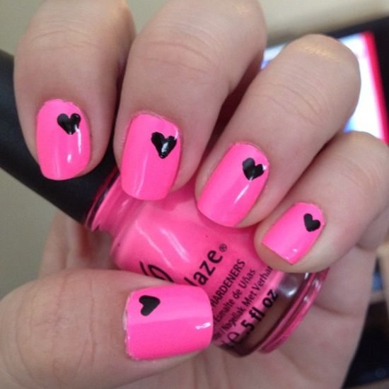 Cute nail designs hearts heart nails cute design nail art cute nail designs hearts cute nail designs for beginners design ideaz prinsesfo Choice Image