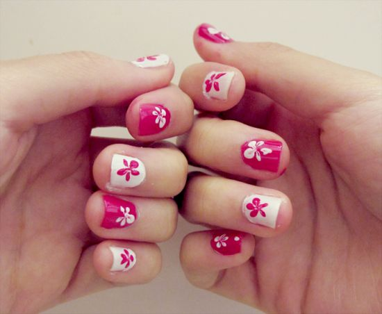 35 cute nail designs for beginners nail design ideaz nail art prinsesfo Gallery
