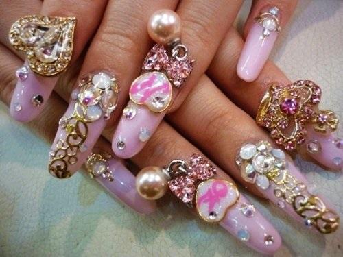 Diamond nail art