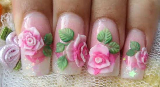 Floral Nail Art Ideas