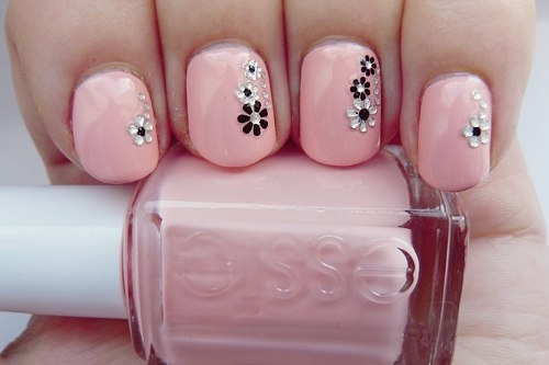 35 creative pink nail designs for women nail design ideaz pink nail art prinsesfo Choice Image