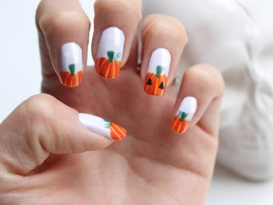 Halloween pumpkin nail art designs nail design ideaz halloween pumpkin designs prinsesfo Choice Image