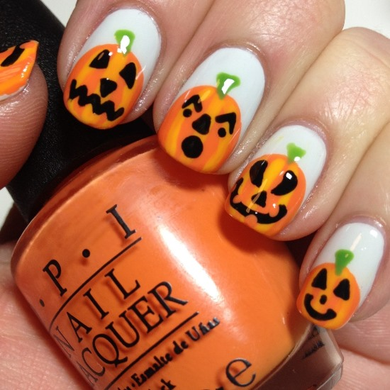 Halloween pumpkin nail art designs nail design ideaz halloween nail designs prinsesfo Choice Image