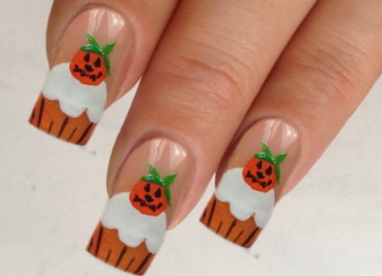 Halloween pumpkin nail art designs nail design ideaz halloween nail art prinsesfo Choice Image