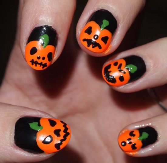 Halloween Nail Designs - Halloween Pumpkin Nail Art Designs Nail Design Ideaz