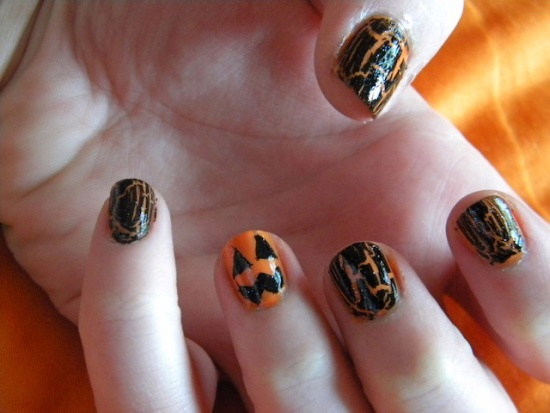 Halloween pumpkin nail art designs nail design ideaz halloween pumpkin nail art prinsesfo Choice Image