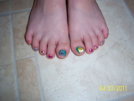 50 easter nail art designs for toes nail design ideaz easter nail designs prinsesfo Choice Image