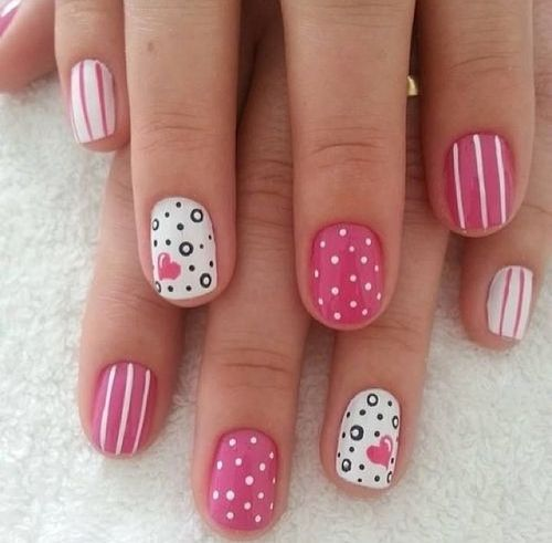 35 creative pink nail designs for women nail design ideaz nail colors prinsesfo Image collections