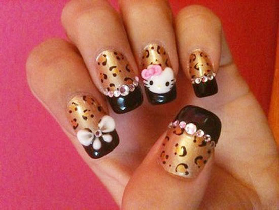 35 Cool Hello Kitty Nail Art Ideas Nail Design Ideaz