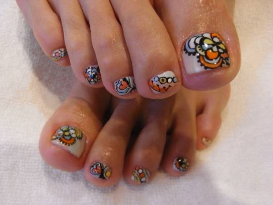 toe nail art designs