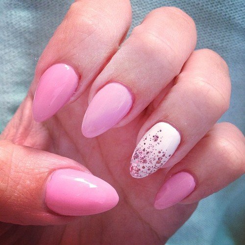35 creative pink nail designs for women nail design ideaz nail colors prinsesfo Choice Image