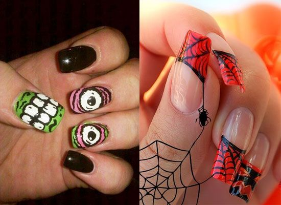 40 scary 3d halloween nail art designs nail design ideaz halloween 3d nails prinsesfo Images