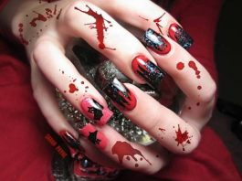Scary 3D Halloween Nail Art Designs