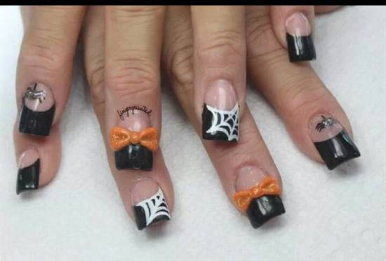 40 scary 3d halloween nail art designs nail design ideaz 3d halloween nails prinsesfo Images