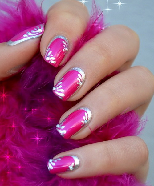 pink nail art - 35 Creative Pink Nail Designs For Women Nail Design Ideaz