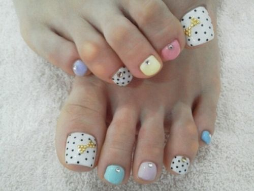 Stone Easter nails