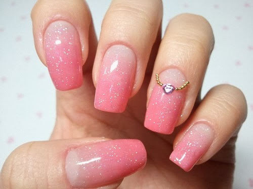 35 creative pink nail designs for women nail design ideaz pink nail designs prinsesfo Choice Image