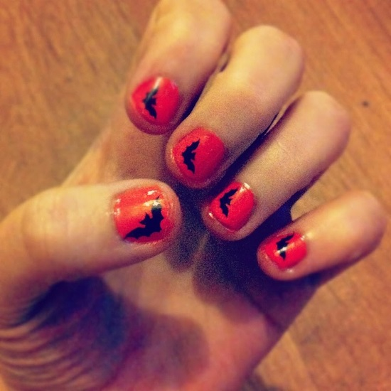 Halloween inspired nail art