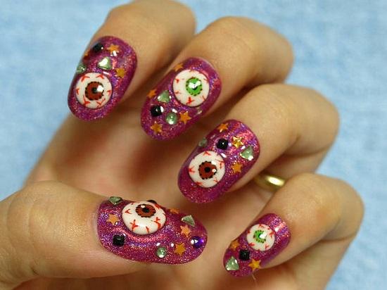 Halloween inspired nail art