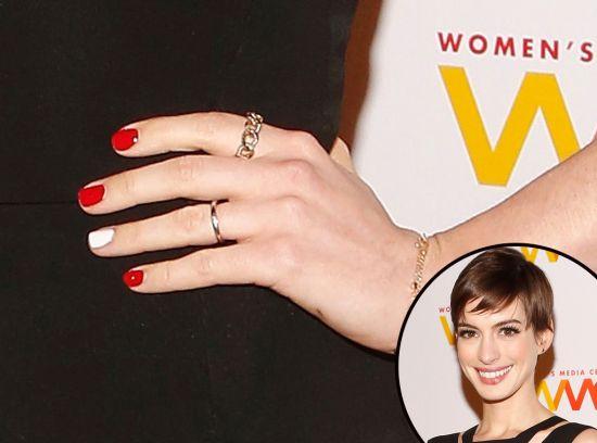 Ann Hathway celebrity nail designs