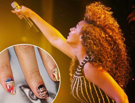 Beyonce minx nail art 2014