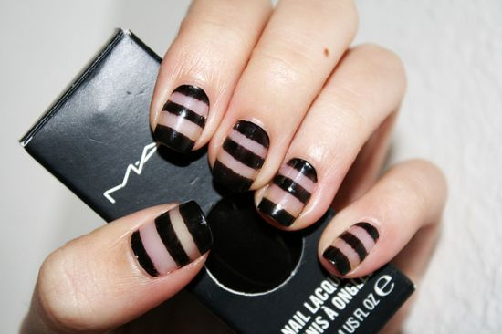 Striped Nails - 35 Creative Striped Nail Designs Nail Design Ideaz