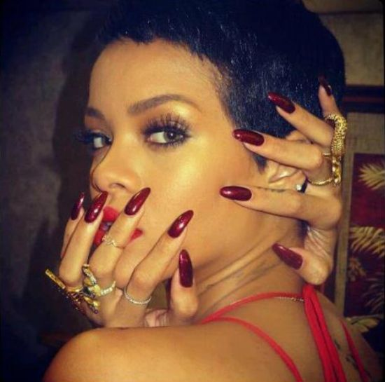 Brown red celebrity nail designs - 50 Cool Celebrity Nail Designs For 2014 Nail Design Ideaz