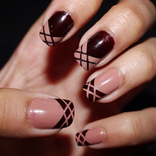 35 Creative Striped Nail Designs Nail Design Ideaz