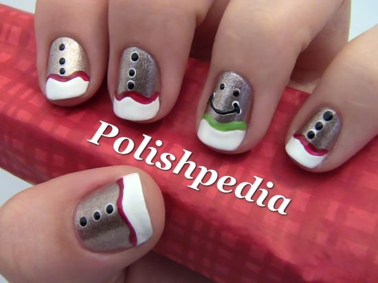 Cute nail art christmas : Top manicure ideas for christmas nail design ideaz