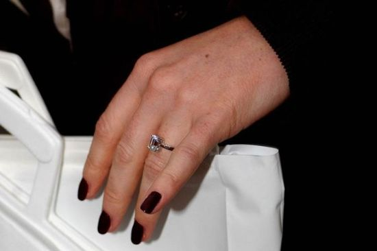 Deep maroon celebrity nails