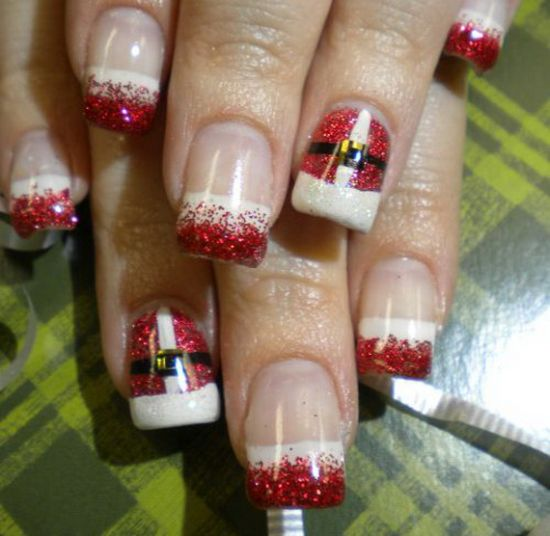 Elegant Christmas nails
