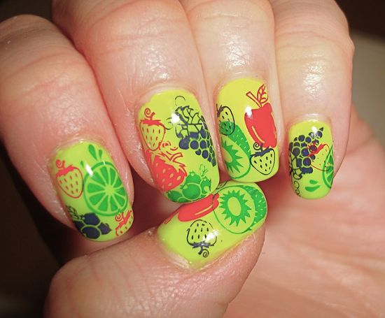 fruit nail designs