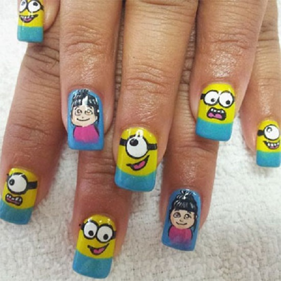 Minion Nail Designs - Top 35 Cutest Minion Nail Art Designs Nail Design Ideaz