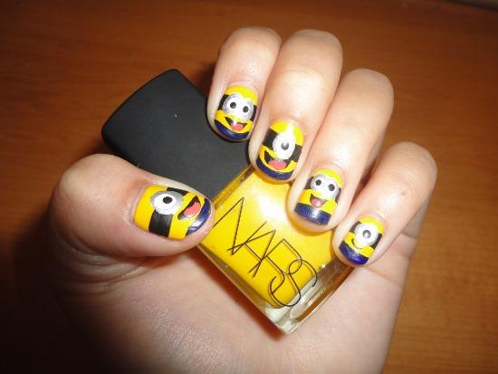 Minion Nail Designs - Top 35 Cutest Minion Nail Art Designs Nail Design Ideaz