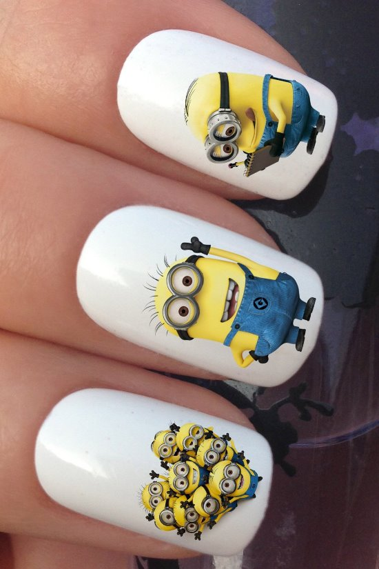 Nail Polish Design Minions Hession Hairdressing