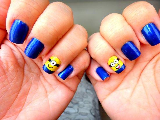 Top 35 cutest minion nail art designs nail design ideaz minion nail art  prinsesfo Images - Minions Nail Art Design Images - Nail Art And Nail Design Ideas