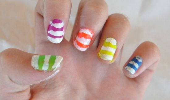35 creative striped nail designs nail design ideaz striped nail designs prinsesfo Images