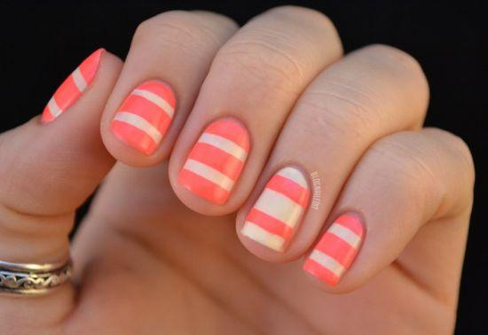 35 creative striped nail designs nail design ideaz pretty striped nail art prinsesfo Gallery