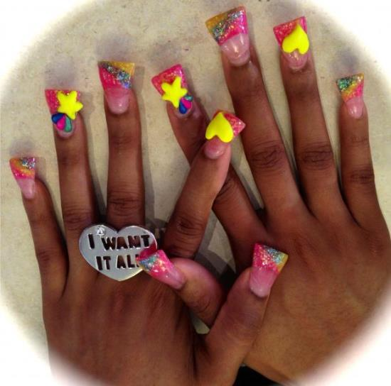35 Fantastic Star Nail Art Ideas Nail Design Ideaz