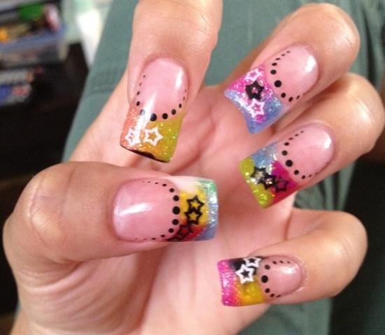 35 fantastic star nail art ideas nail design ideaz star nail art ideas prinsesfo Images