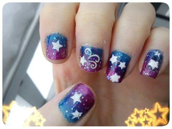Star Nail Art Ideas - 35 Fantastic Star Nail Art Ideas Nail Design Ideaz