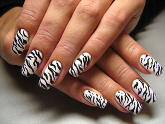 Zebra Nail Art Ideas - 40 Rocking Zebra Nail Designs Nail Design Ideaz