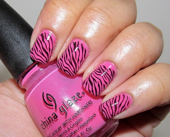 Zebra Nail Art Ideas - 40 Rocking Zebra Nail Designs Nail Design Ideaz