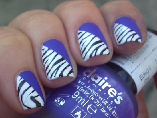 40 rocking zebra nail designs nail design ideaz zebra nail art prinsesfo Image collections