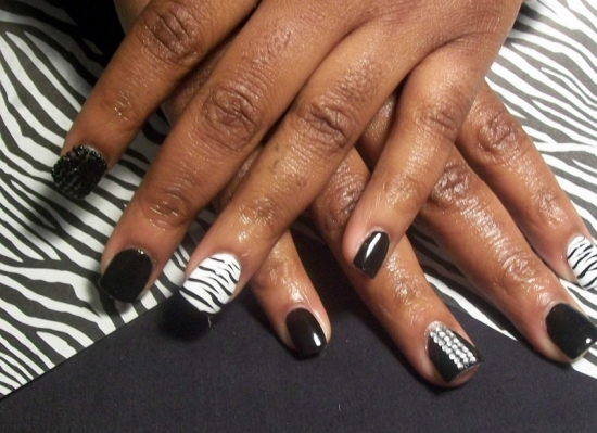 Zebra Nail Designs - 40 Rocking Zebra Nail Designs Nail Design Ideaz