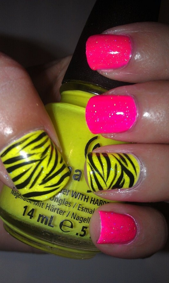 40 Trendy Neon Nail Art Designs | Nail Design Ideaz